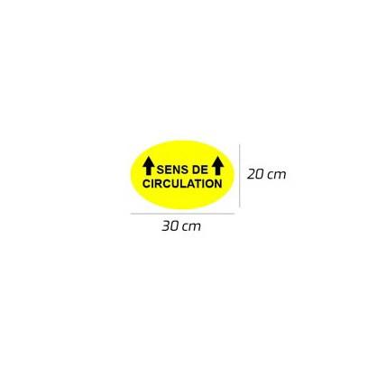 PREVENTION-VIRUS - Autocollant de sécurité de sol Rond