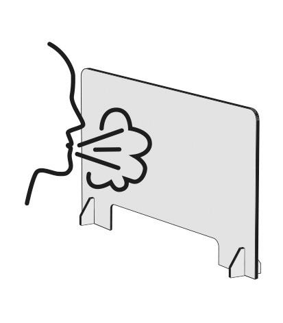 Cloison écran de séparation <b>latérale</b> pour bureau