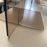 Cloison de type Hygiaphone ombre fumé clair Format vertical 70×95 cm
