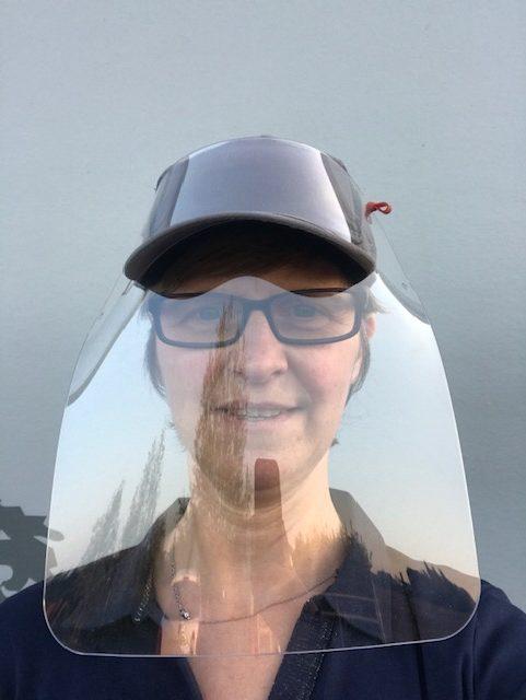 visière transparente de prévention virus pour casquette