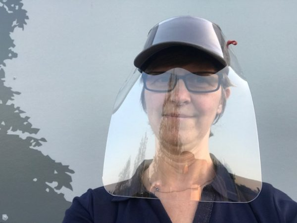 visière transparente pour casquette