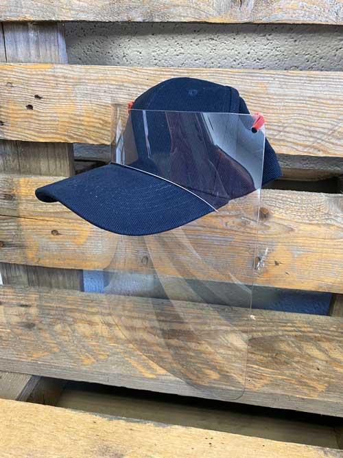 casquette et visière de protection anti-postillons