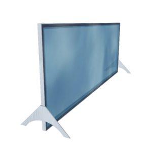 Cloison transparente autoportante horizontale – Format 180 x 70 cm