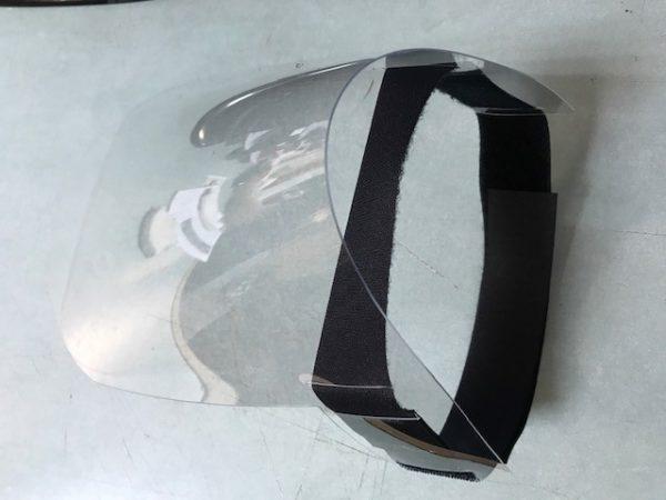 écran facial léger et transparent prévention virus