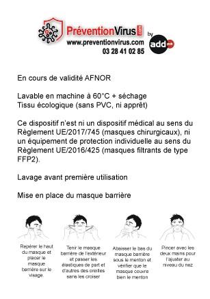 PREVENTION-VIRUS.COM - Etiquette de masque écologique
