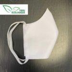 Masque lavable et réutilisable en tissu écologique simple couche