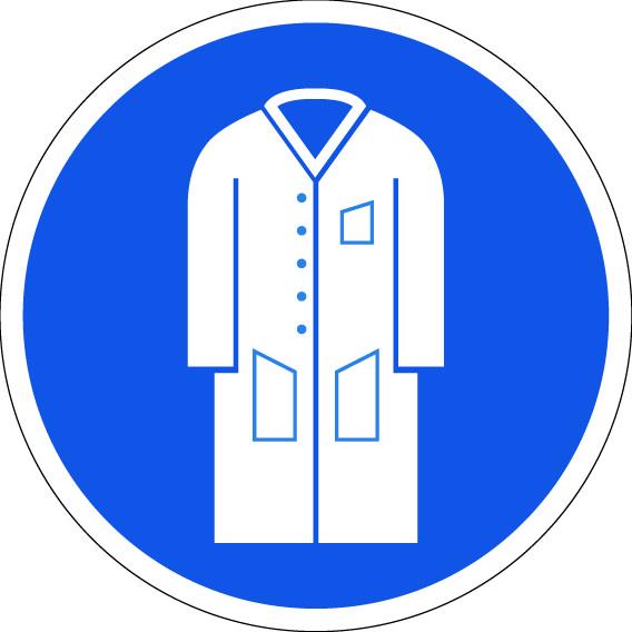panneau port de la blouse obligatoire