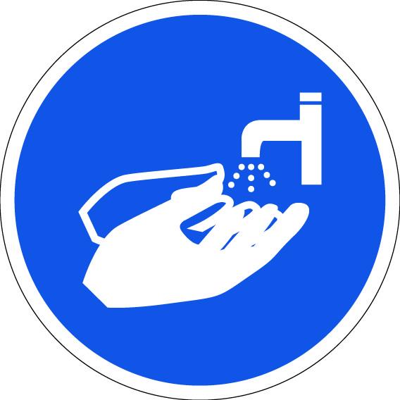 panneau lavez vos mains