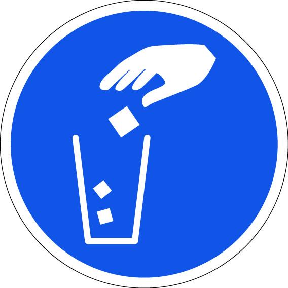 panneau jetez vos mouchoirs unique à la poubelle