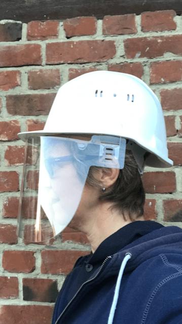 visière transparente protection anti-virus pour casque de chantier