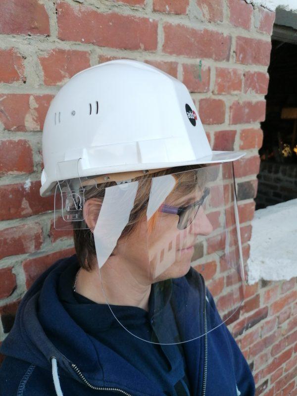 visière transparente pour casque de chantier