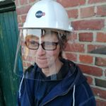 Visière ultra transparente à clipser pour casque de chantier