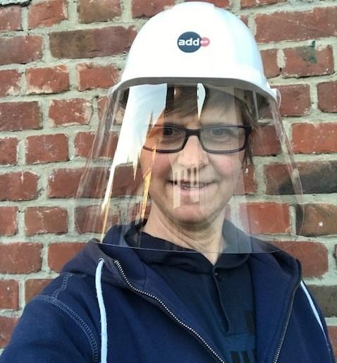 visière transparente à clipser sur casque de sécurité ou de chantier