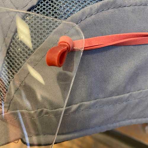 visière transparente protection anti-virus pour casquette