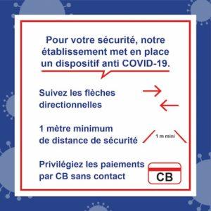 Autocollant Suivez les flèches directionnelles </br> Format 45 x 45 cm