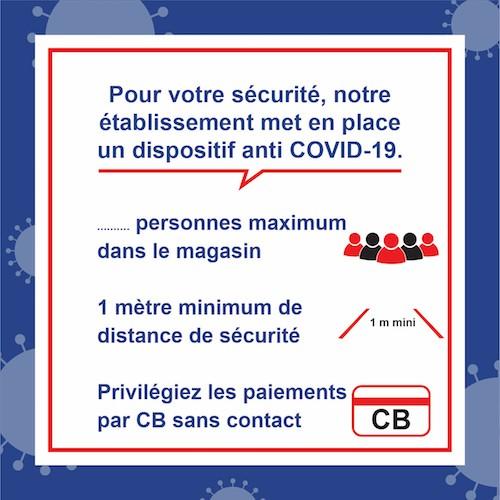marquage autocollant prévention virus 45 x 45 cm disposition anti COVID-19
