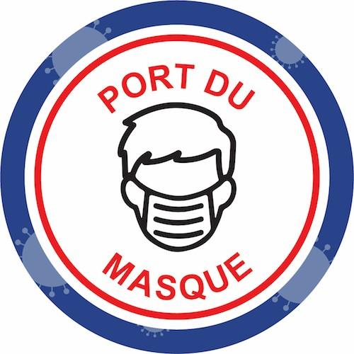 Marquage prévention virus port du masque