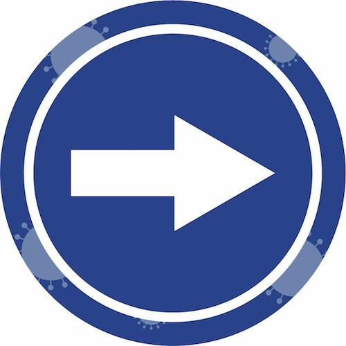 autocollant sens directionnel