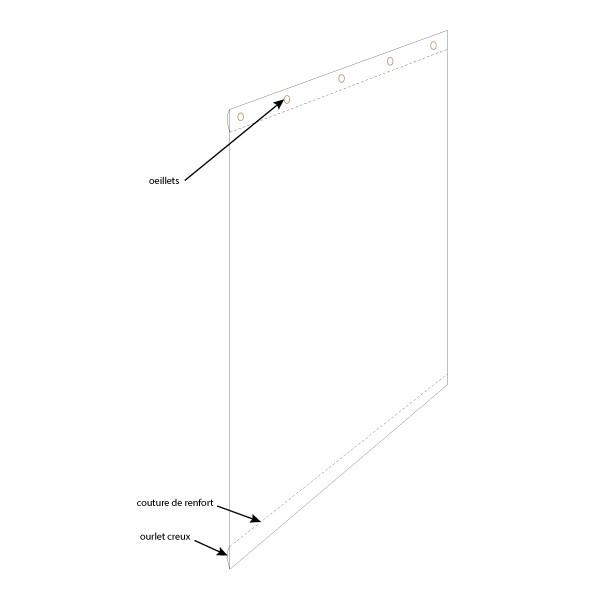 bache PVC cristal transparent à suspendre