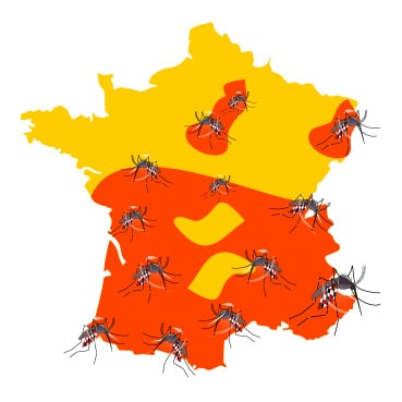 PREVENTION-VIRUS.COM - Carte des moustiques tigres