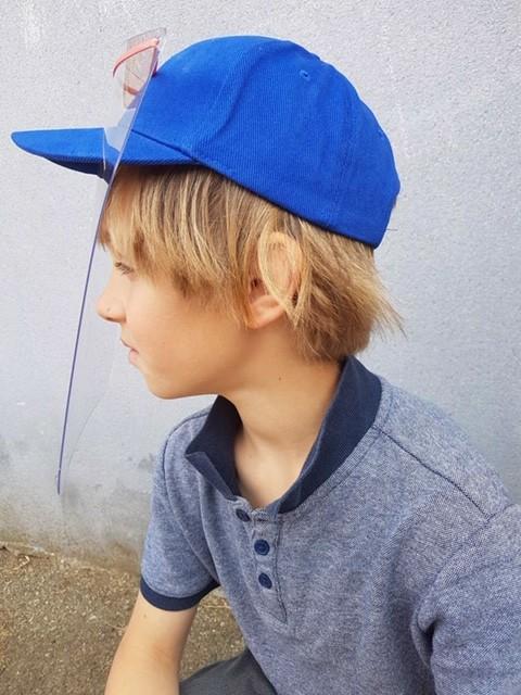 PREVENTION-VIRUS.COM - casquette avec visière de protection taille enfant