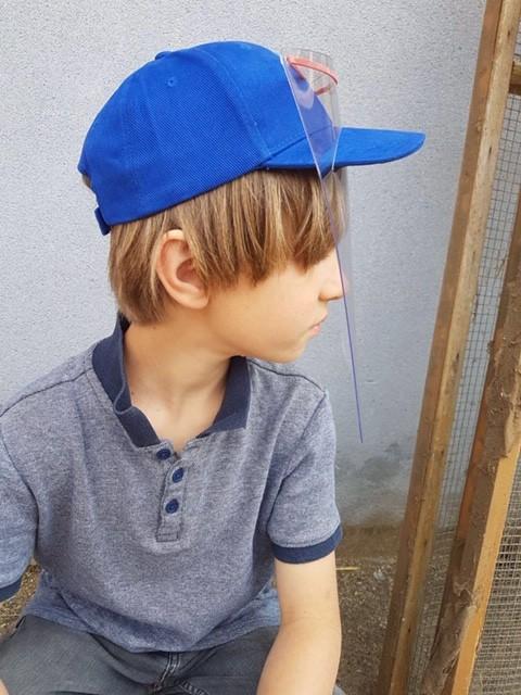 PREVENTION-VIRUS.COM - Casquette enfant avec visière de protection