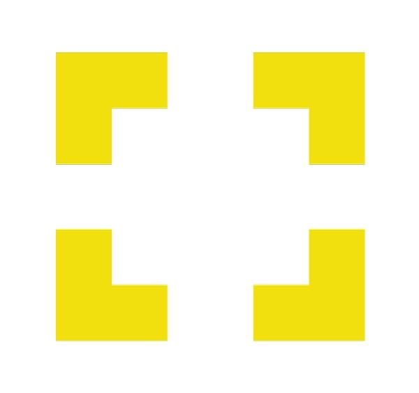 kit de délimitation jaune autocollant