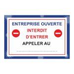Panneau Interdit d'entrer – Format 40 x 60 cm