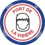 Panneau Prévention Virus </br> Port de la visière – Format 20 x 20 cm