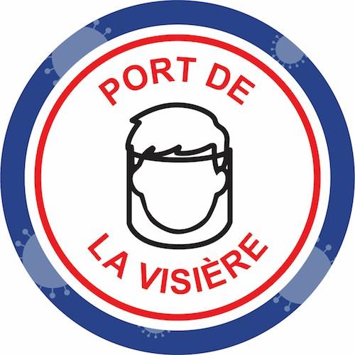 panneau port de la visière