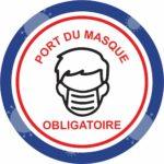 Panneau Prévention Virus </br> Port du masque – Format 20 x 20 cm