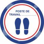 Autocollant Poste de travail – Format 45 x 45 cm