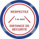 panneau respectez les distances de sécurité
