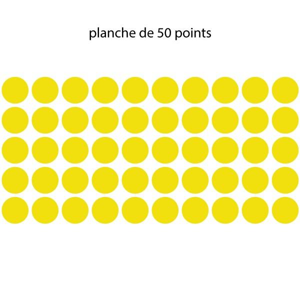 planche de 50 points jaune de distanciation