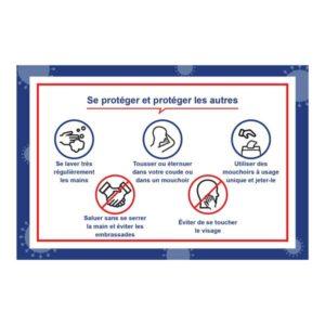 Panneau Gestes barrières pour se protéger – Format 40 x 60 cm