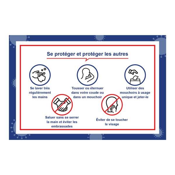 PREVENTION-VIRUS.COM - Panneau gestes barrières prévention virus