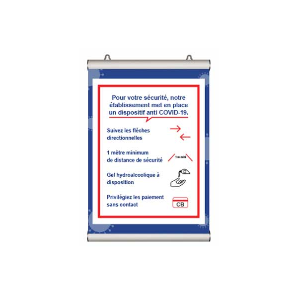 PREVENTION-VIRUS.COM - Porte affiche information murale ou a suspendre
