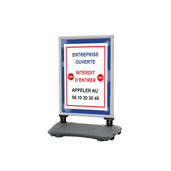 PREVENTION-VIRUS.COM - Stop trottoir 100 x 70 cm