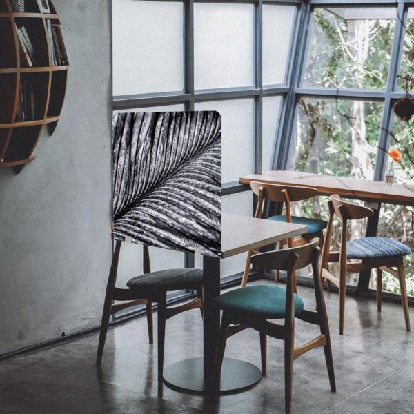 cloison de séparation de table pour restaurants ou bars