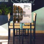 Cloison de séparation de table de restaurant en aluminium composite – Format 70 x 65 cm