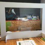 Cloison en carton Reboard avec fenêtre