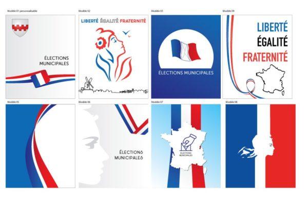 Modèles de mur de vote élection municipale France