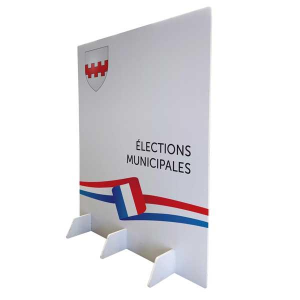 mur de vote pour bureau de vote lors des élections municipales