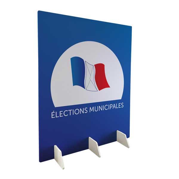 mur de vote pour mairie lors des élections municipales