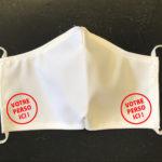 Masque imprimé sans plis